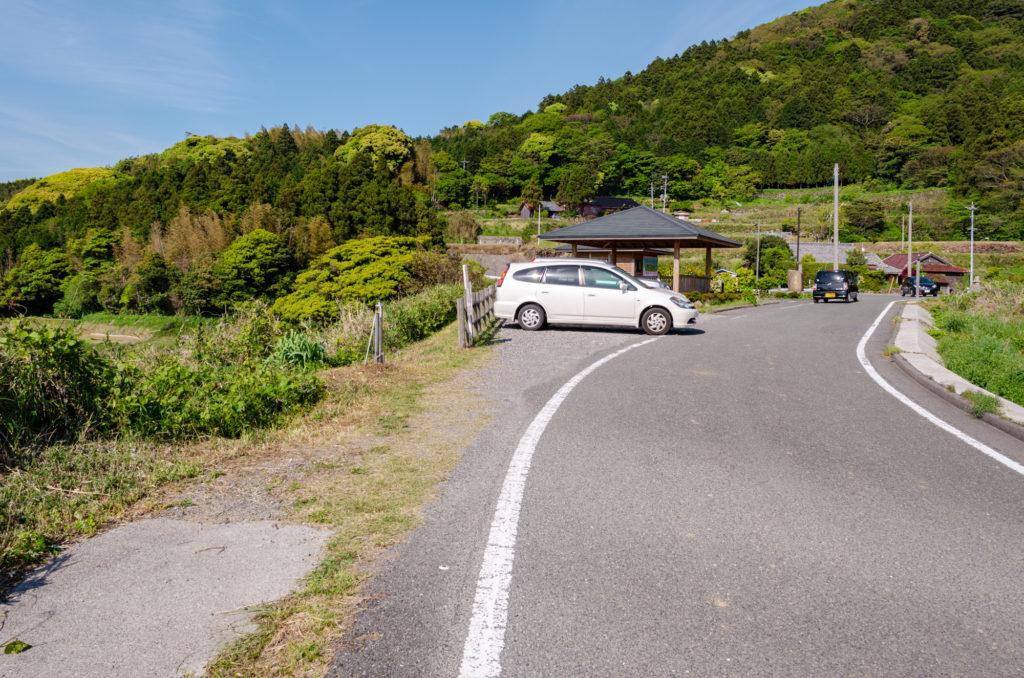 東後畑棚田の駐車場