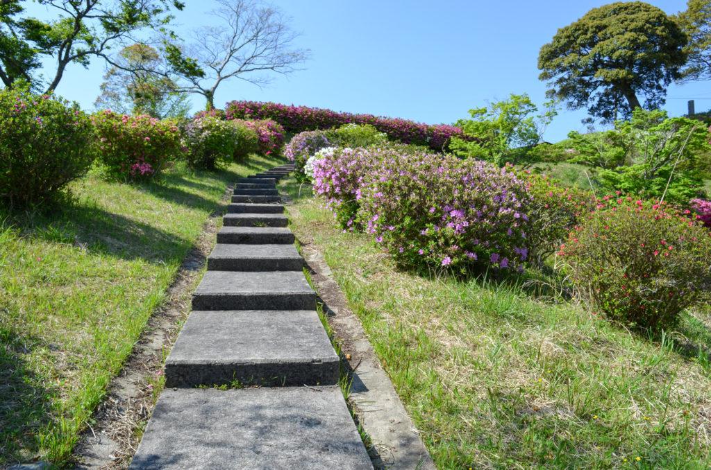 熊野山公園の遊歩道