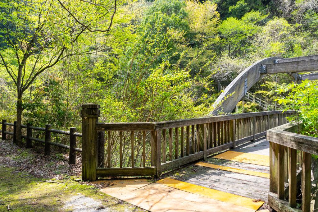 白糸の滝の遊歩道