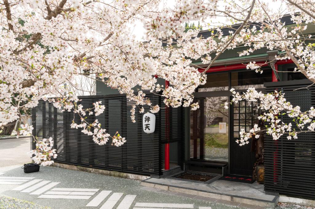 【桜を見ながら焼肉が食べれる】防府市の焼肉弁天さん。