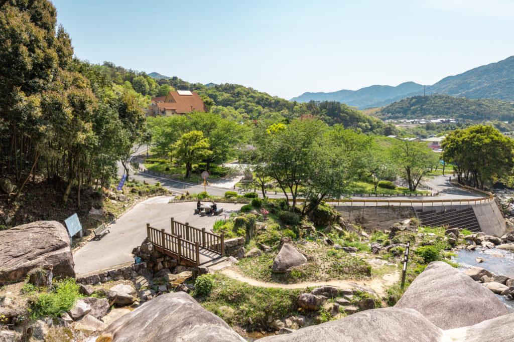 鳴滝公園を上から見下ろす