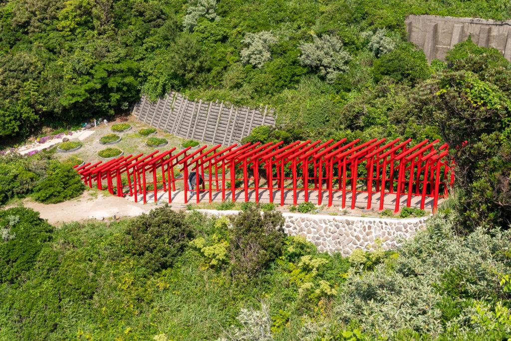 元乃隅神社の参道