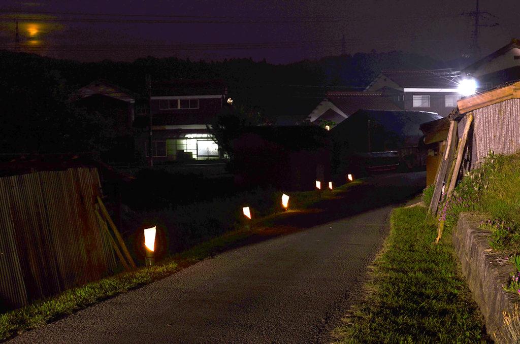長穂ホタル祭り竹灯籠