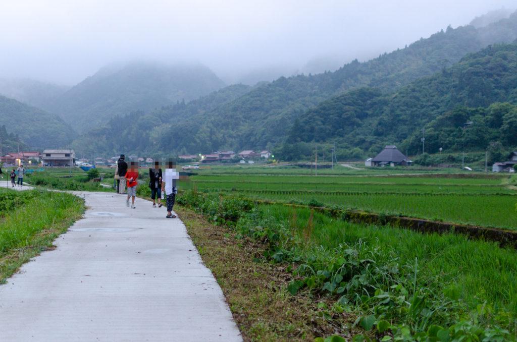 萩市山田地区の遊歩道